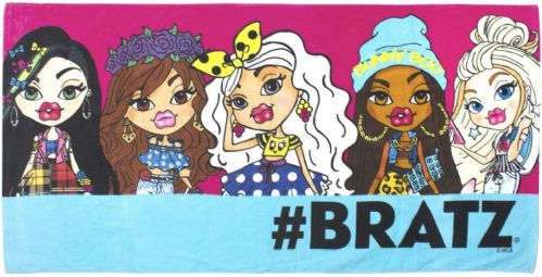 "Bratz ""Hashtag"" Character 100% Cotton Velour Beach Towel"